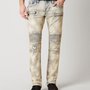 Rock Revival Jeans Pants Barry K1 Moto Biker 40